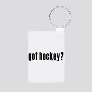 got hockey? Aluminum Photo Keychain