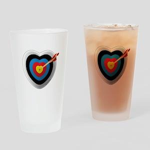 Archery Love 2 Drinking Glass