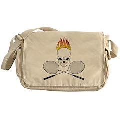 Skull Badminton Messenger Bag