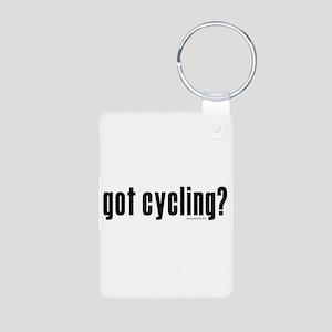 got cycling? Aluminum Photo Keychain