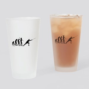 Fencing Evolution Drinking Glass