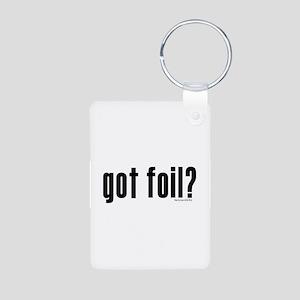 got foil? Aluminum Photo Keychain