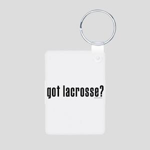 got lacrosse? Aluminum Photo Keychain