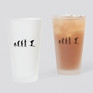 Ski Evolution Drinking Glass