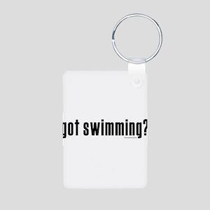 got swimming? Aluminum Photo Keychain
