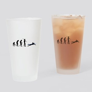 Swim Evolution Drinking Glass