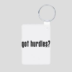 got hurdles? Aluminum Photo Keychain