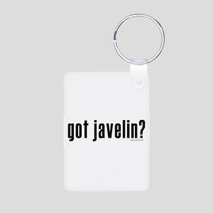 got javelin? Aluminum Photo Keychain