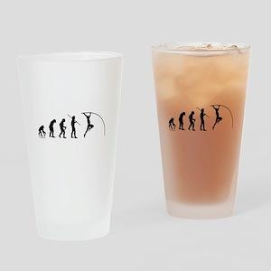Pole Vault Evolution Drinking Glass