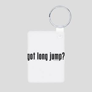 got long jump? Aluminum Photo Keychain