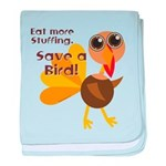 Save a Turkey baby blanket