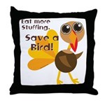 Save a Turkey Throw Pillow