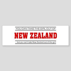 'Girl From New Zealand' Sticker (Bumper)