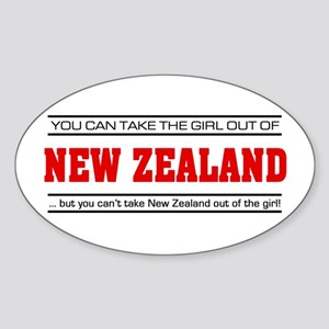 'Girl From New Zealand' Sticker (Oval)