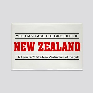 'Girl From New Zealand' Rectangle Magnet