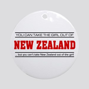'Girl From New Zealand' Ornament (Round)
