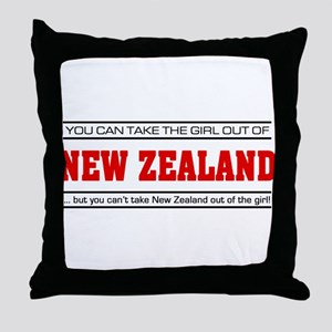 'Girl From New Zealand' Throw Pillow