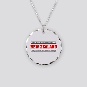 'Girl From New Zealand' Necklace Circle Charm
