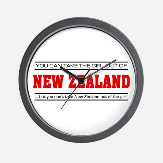 'Girl From New Zealand' Wall Clock
