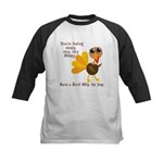 Thanksgiving Vegan Kids Baseball Jersey