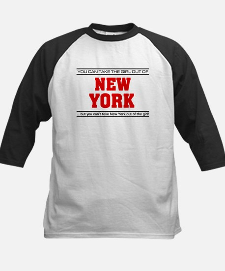 'Girl From New York' Kids Baseball Jersey