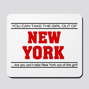 'Girl From New York' Mousepad