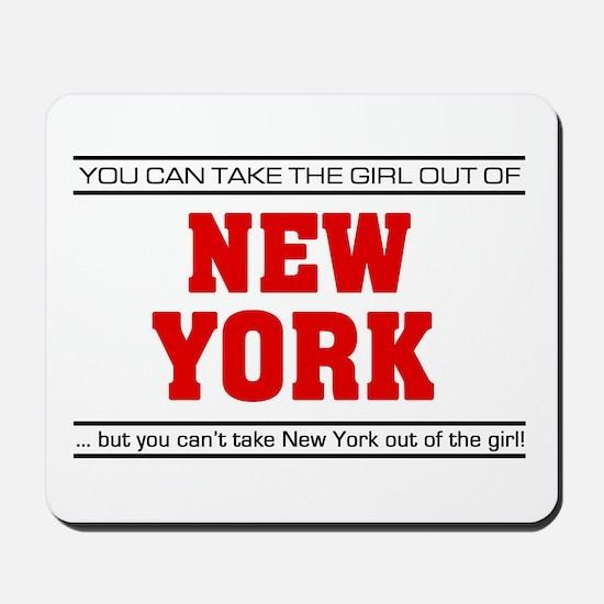 'Girl From New York' Mousepad