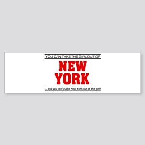 'Girl From New York' Sticker (Bumper)
