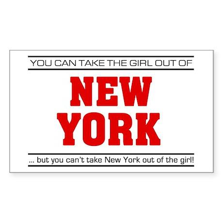 'Girl From New York' Sticker (Rectangle)