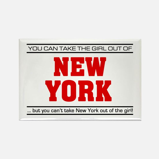 'Girl From New York' Rectangle Magnet