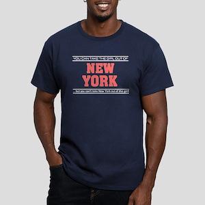 'Girl From New York' Men's Fitted T-Shirt (dark)