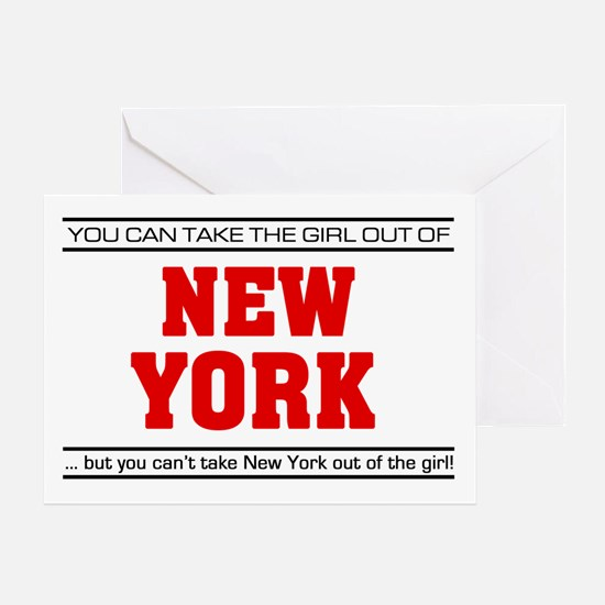 'Girl From New York' Greeting Card