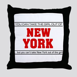 'Girl From New York' Throw Pillow