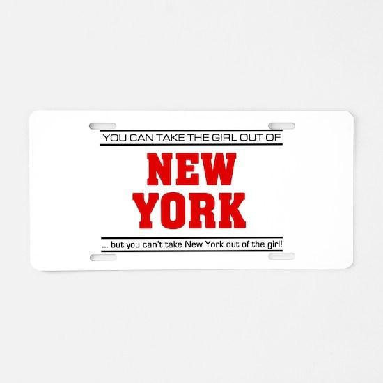 'Girl From New York' Aluminum License Plate