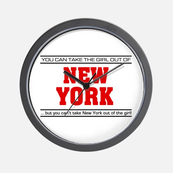'Girl From New York' Wall Clock
