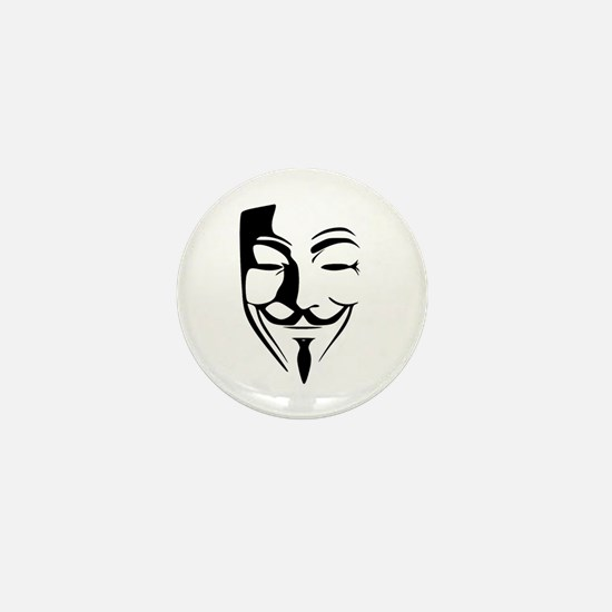 Fawkes Silhouette Mini Button