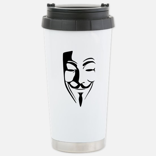 Fawkes Silhouette Stainless Steel Travel Mug