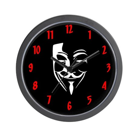 Fawkes Silhouette Wall Clock