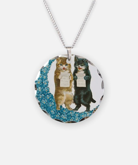 Blue Moon Singing Cats Necklace