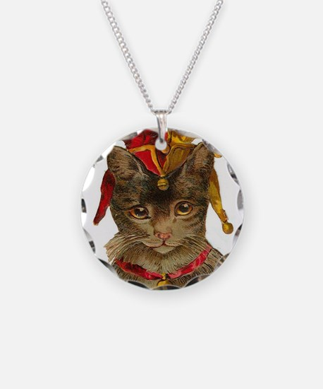 Clown Jester Cat Necklace