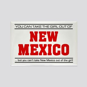 'Girl From New Mexico' Rectangle Magnet