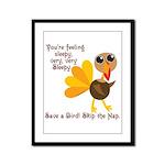 Thanksgiving Vegan Framed Panel Print