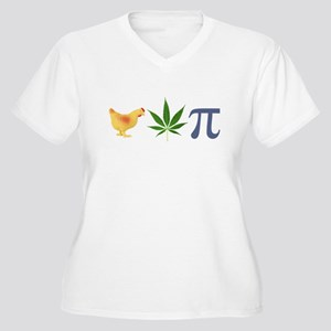 Chicken Pot Pi Pie Women's Plus Size V-Neck T-Shir