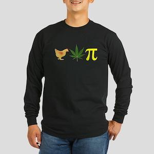 Chicken Pot Pi Pie Long Sleeve Dark T-Shirt