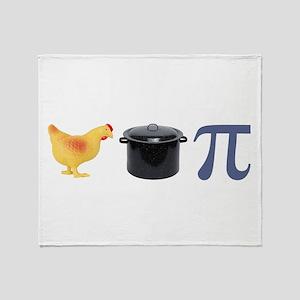 Chicken Pot Pi Pie Throw Blanket