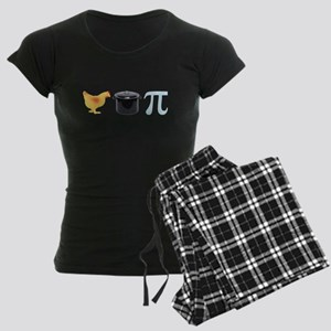 Chicken Pot Pi Pie Women's Dark Pajamas