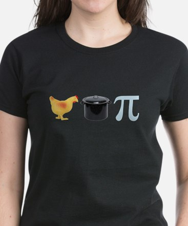 Chicken Pot Pi Pie Women's Dark T-Shirt