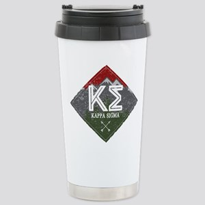 Kappa Sigma Diamo 16 oz Stainless Steel Travel Mug