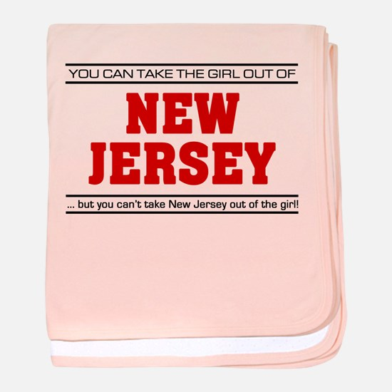 'Girl From New Jersey' baby blanket