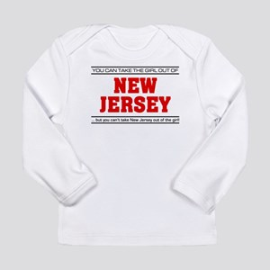 'Girl From New Jersey' Long Sleeve Infant T-Shirt
